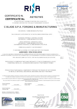 Process - Certifications - Quality   C*Blade S p a